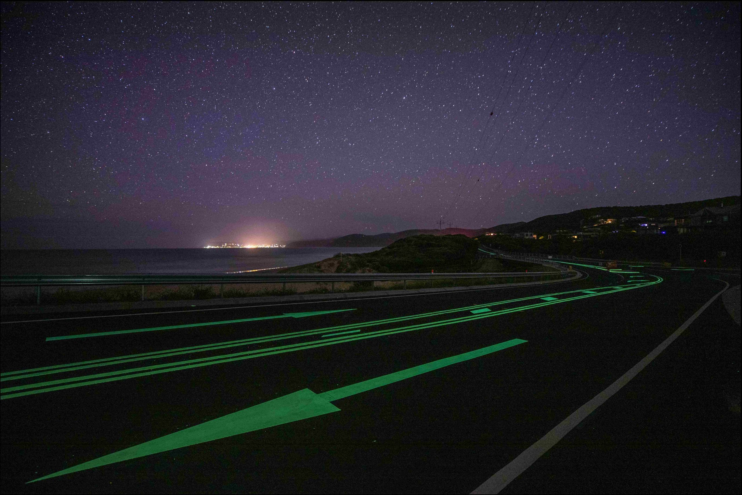 Great Ocean Road_Moggs Creek_Luminescent Linemarking by Safety Path