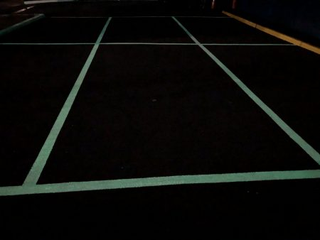 Safety Path PL Paint increases visibility of lines in poorly lit car parks