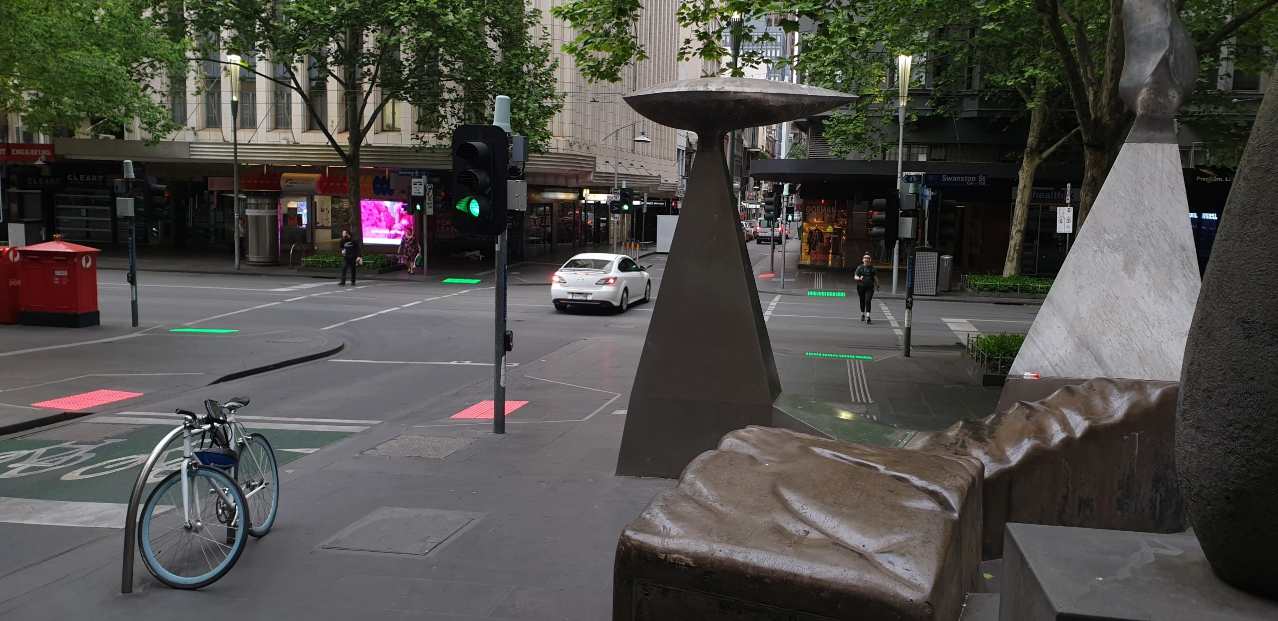 LED Tactiles Melbourne Swanston Street and Little Collins St