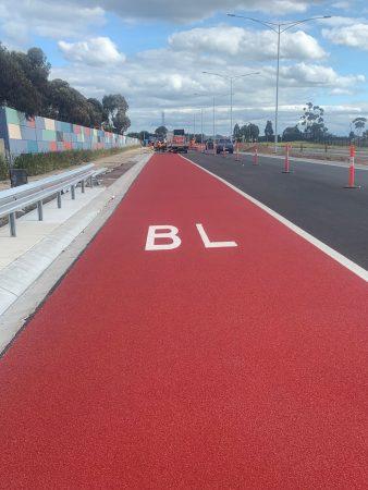 Palmers Road Bus Lane using OmniGrip CST