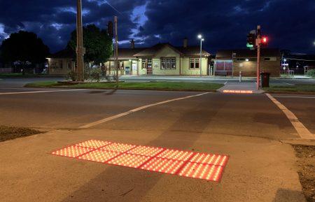 Vivacity LED Safety Tactile outside Trafalagar Railway Station