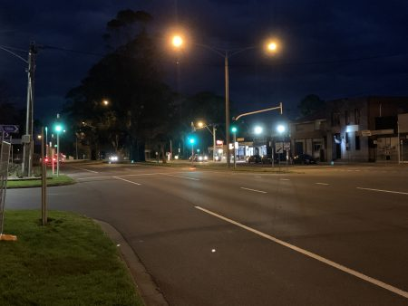 Visibility of Vivacity LED Safety Tactiles to approaching drivers at night