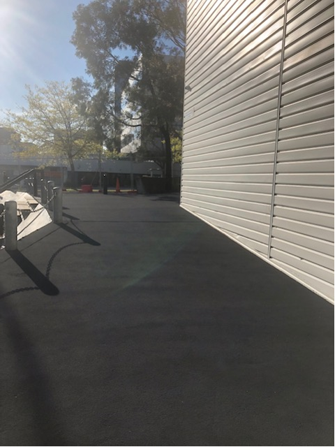 OmniGrip Rubber Coat on steep entrance ramp to Box Hill TAFE