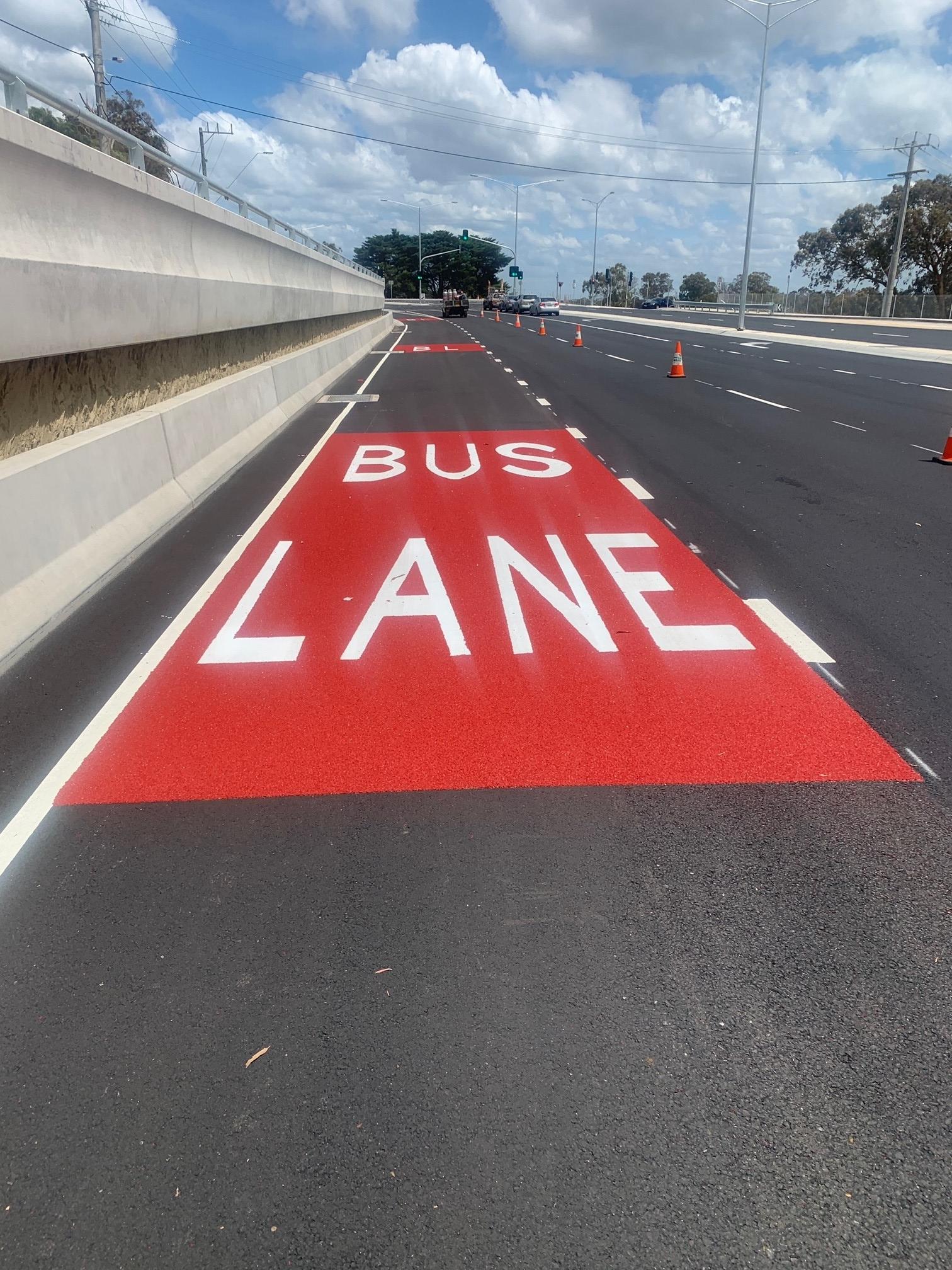 Yan Yean Rd Bus Lane with OmniGrip CST